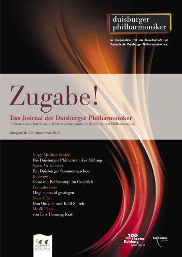 Das Journal der Duisburger Philharmoniker - Die Duisburger ...