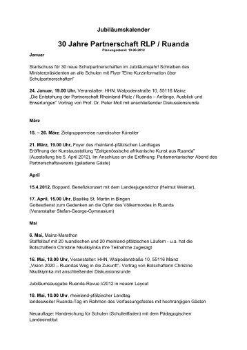 30 Jahre Partnerschaft RLP / Ruanda - Partnerschaft Rheinland ...