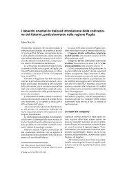 Bozzoli M. - I tabacchi orientali in Italia ed introduzione della ... - Inea