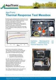 Thermal Response Test Messbox - Aquitronic