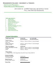 2012-2013 CHRM Timetable & Instructions Fall and Winter Sessions