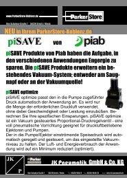 piSAVE von - JK Pneumatik GmbH