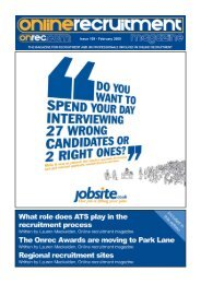 Issue 109 - February 2009 - Online Recruitment Magazine