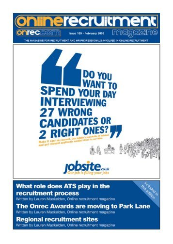 Issue 109 - February 2009 - Online Recruitment Magazine
