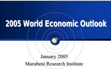 2005 World Economic Outlook - Marubeni