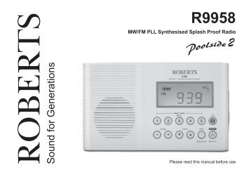 roberts radio wm 202 thiecom rh yumpu com roberts radio r871 user manual roberts radio stream93i user manual
