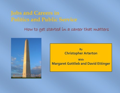 Jobs and Careers in Politics and Public Service - Graduate School ...