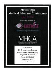 Mississippi .Medical Director Conference - Mississippi Health Care ...