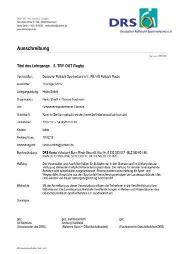 DRS Ausschreibung Elxleben - Rollstuhl-Rugby.de