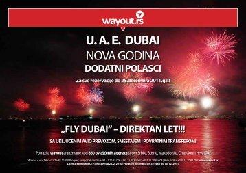 U. A. E. DUBAI NOVA GODINA - Wayout