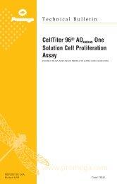 CellTiter 96(R) AQueous One Solution Cell Proliferation ...