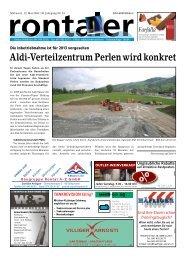 Aldi-Verteilzentrum Perlen wird konkret - Regionalzeitung Rontaler AG