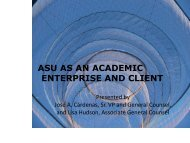 asu as an academic enterprise and client - Arizona Attorney General