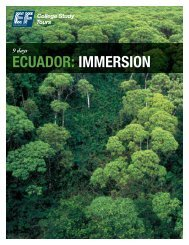 ECUADOR: IMMERSION - EF College Study Tours