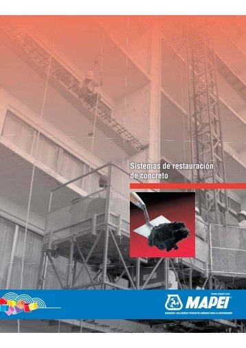 Sistemas de restauración de concreto - Mapei