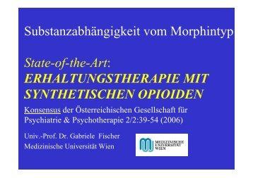 Erhaltungstherapie mit synthetischen Opioiden - Sucht und Drogen