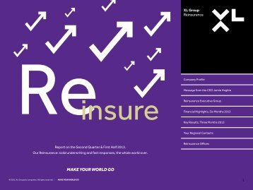 XLRe Brochure North America Q2 2013 - XL Group
