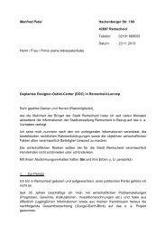 Schreiben von Herrn Manfred Peter - wir-rs.de