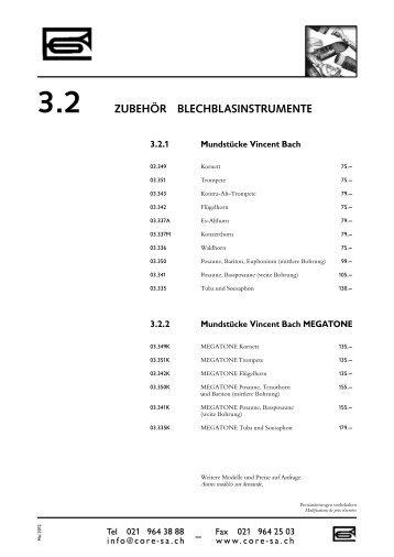 3.2 ZUBEHÖR BLECHBLASINSTRUMENTE
