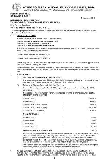 WYNBERG-ALLEN SCHOOL, MUSSOORIE 248179, INDIA