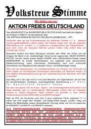 Vorstellung Aktion Freies Deutschland