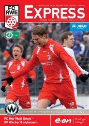 SV Wacker Burghausen - FC Rot-Weiss Erfurt e.V.