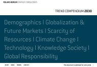 TREND COMPENDIUM 2030 - Roland Berger Strategy Consultants