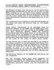 7th south asian bodybuilding championship in kathmandu ... - ABBF