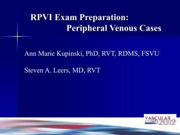 Peripheral Venous Cases - VascularWeb