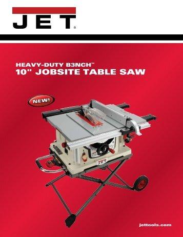 "10"" JOBSITE TABLE SAW - Woodcraft"