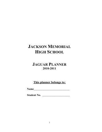 Jackson Memorial High School - Jackson School District