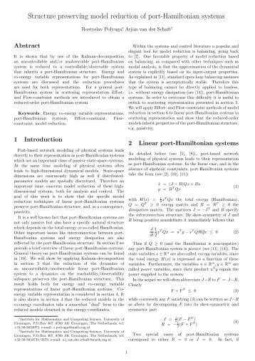 Structure preserving model reduction of port-Hamiltonian systems