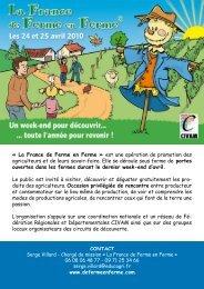 La France de Ferme en Ferme - Les agricultures alternatives