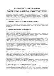 stanovisko hlavného kontrolóra k návrhu rozpočtu obce liptovska ...