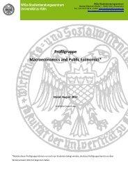 Macroeconomics and Public Economics - Universität zu Köln