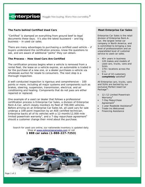 Enterprise Car Sales Used Cars For Sale Used Car Dealerships
