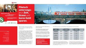 Weitere Beispiele zur Zeitersparnis auf ausgesuchten ... - S-Bahn