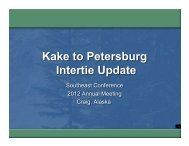 Kake-Petersburg Intertie 9-12.ppt [Read-Only] - Southeast Conference