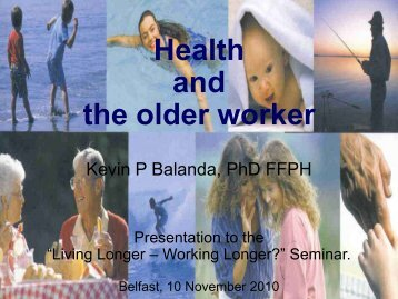 Health and the older worker - CARDI