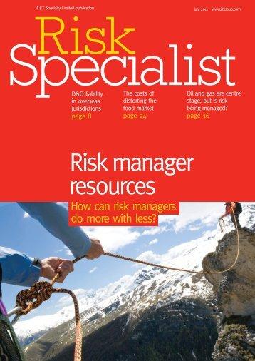resources Risk manager - JLT