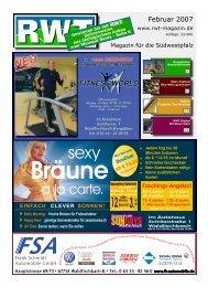 3.-€ - RWT - Magazin für die Südwestpfalz