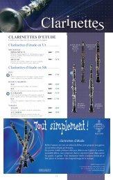 Télécharger le catalogue CLARINETTES - Feeling Musique