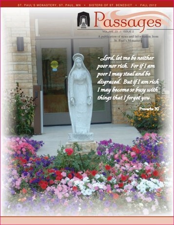 Fall 2012 Vol. 23 Issue 2 - St. Paul's Monastery