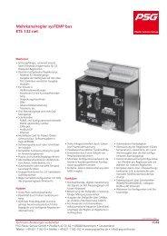 Mehrkanalregler sysTEMP bus ETS 132 net - PSG Plastic Service ...