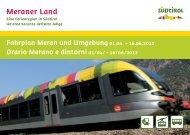 Fahrplan Meran und Umgebung Frühling 2012 ... - Meraner Land