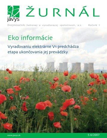 Eko informácie - Javys, as