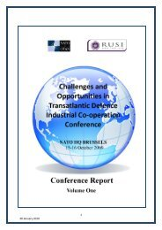 Challenges and Opportunities in Transatlantic Defence Industrial Co ...