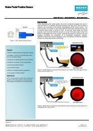 Brake Pedal Position Sensor - Digi-Key