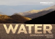 Water Operations Report | 2011 – 2012 | 1 - Snowy Hydro