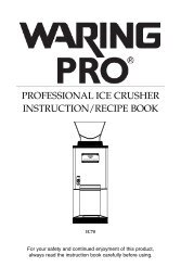 PROFESSIONAL ICE CRUSHER INSTRUCTION/RECIPE BOOK - Abt